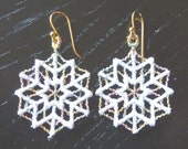 Lace Snowflake Earring