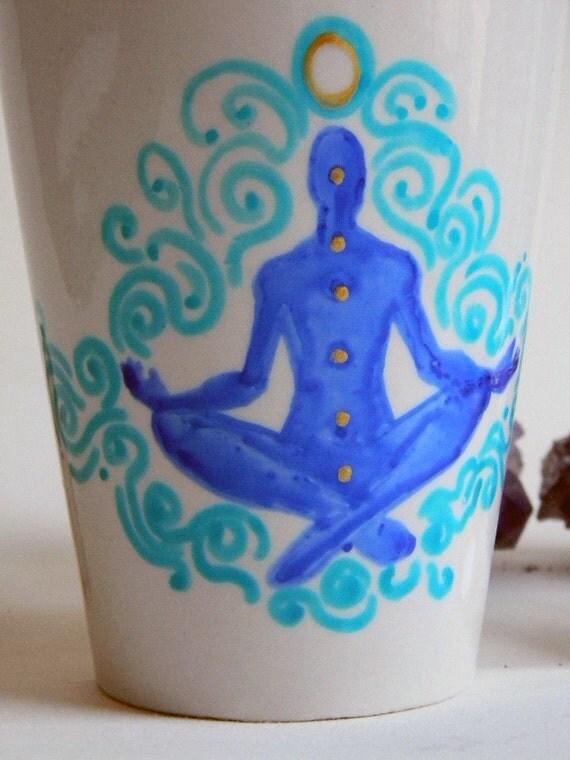 Mug - Hand Painted -  Meditation