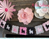 Baby Shower Banner, It's a Girl, It's a Boy, Baby Revealing Party, Baptism, Ready to ship, Photo prop, Vintage, A to Zebra Celebrations