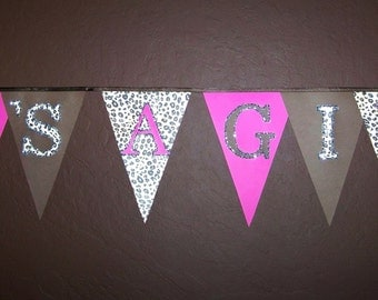 It's A Girl Banner, Cheetah Party, New Baby Girl, Photo Prop, Ready to ship, Leopard Party, Princess, Jungle, A to Zebra Celebrations