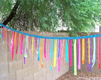 Candyland Party - Sweet Shoppe, Lollipop, Party Shoppe, Carnival Party, Bubblegum, Cupcake Party, Ribbon Garland