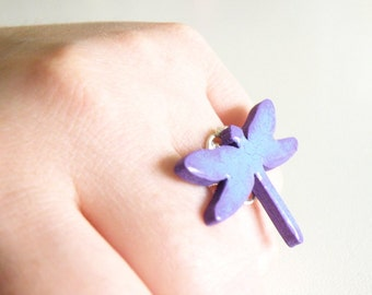 Wooden Dragonfly Ring - PRINCE CHARMING DRAGONFLY