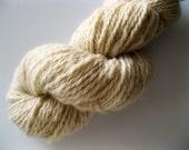 Natural Handspun - Shetland wool, cream, blank yarn, heavy worsted weight