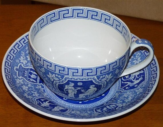 Spode Blue Room Jumbo Cup Amp Saucer Greek