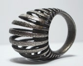 Armadillo ring 3D printed in stainless steel free shipping