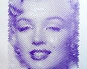 Marilyn Monroe - polargraph robot drawing 43x36 5/100 (unframed)