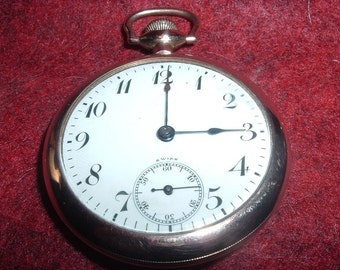 Record W. CO. 23 Jewels Pocket Watch For Parts Or Repair