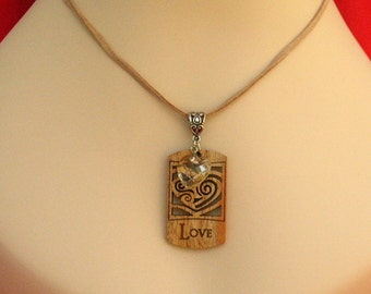 Celtic Heart Necklace with Crystal Heart Charm Jewelry Accessories Handmade Women NEW Fashion
