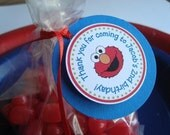 NEW Elmo Birthday Personalized Favor Tags, Custom Hang Tags, Labels, Party Favors