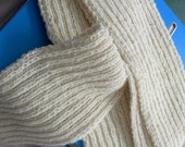 Unisex Plain Ribbed Scarf /Double Knit Sporty yarn & Aran -  MADE To ORDER
