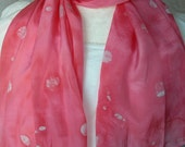 My POLKA DOT Scarf / Bandanna / Short Circle - to wear all year round- Hand MADE to Order