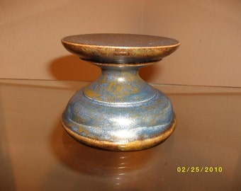 Round Candle Holder - Stormy Blue