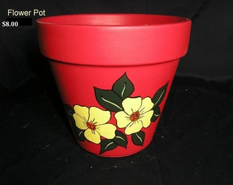 Decorated Flower Pot - Flowers