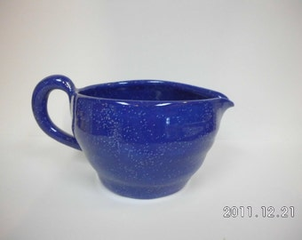 Blue Enamelware Mixing Bowl