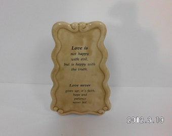 Decorative Standing Plaque - Love