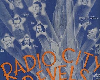 1937 Good Night Angel Radio City Revels Sheet Music