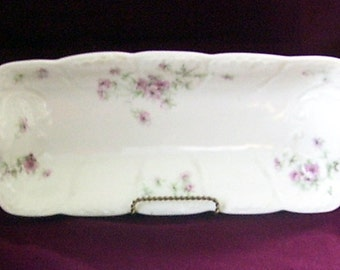 Antique Limoges Celery Oblong Tray Lanternier France, Porcelain Serving Dish, French Country, French Wedding Brunch, Celery Tray