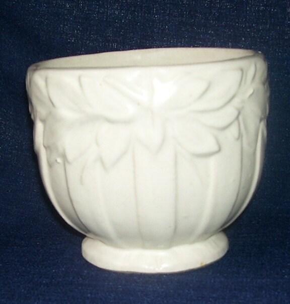 Nelson McCoy Pottery Co. 1920 Butterfly Motif Planter Vase