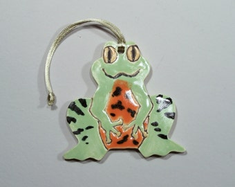 Fire-bellied Toad Ornament - Handpainted Porcelain