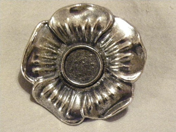 Flower Buckle Blank Wholesale Antique Silver for Cabachon