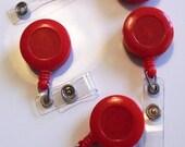 Inventory Clearance - Destash - Sale - Set of 20 Red Retractble Badge Reel