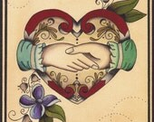 Love One Another - Tattoo Flash Print