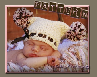 The Cupcake Sack Hat for Infants 0 to 3months PDF CROCHET PATTERN