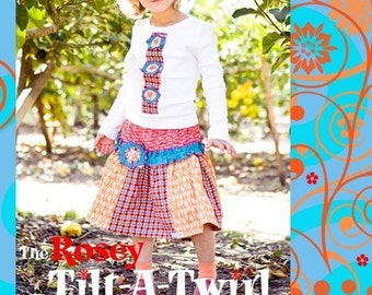 The Rosey Tilt-a-Twirl Skirt and Tee Pattern PDF Pattern ZoZoBug Baby Girl Instant Download