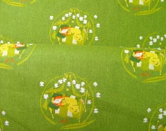 Heather Ross Far Far Away II Sleeping Beauty in Meadow Fabric by Kokka OOP 1 Fat Quarter