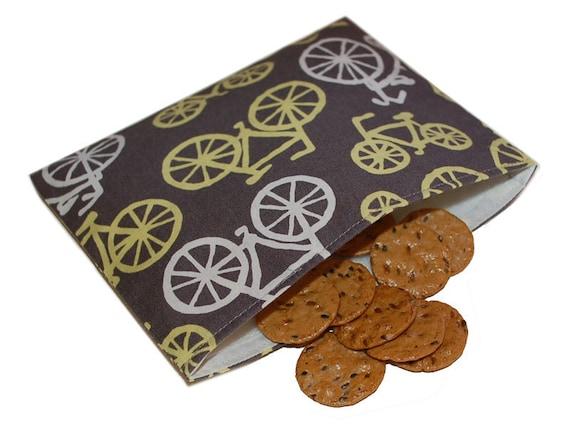 Reusable Snack Bag - Bicycles Michael Miller
