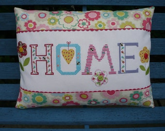 Hand Cross-Stitched Home Cushion
