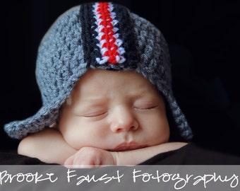 Ohio State University Helmet or Hat Photo Prop Newborn Child Adult sizes FREE SHIPPING