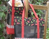 Stuff and Go PATTERN - Durable, Reusable Grocery Bags/Tote Bags with Storage Case - A Sewing Project