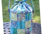 What-Cha-Ma-Bucket PATTERN- Mini Tote, Notions Caddy, Hand Work Project Tote, Sock Knitting Bag
