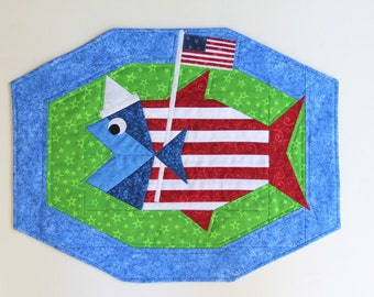 Fish supplement PATTERN AND Easy Octa-Strip Placemats PATTERN - A Quilting and Sewing Project