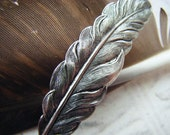 Silver Feather Hairclip