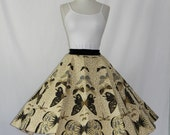 FABULOUS 1950's Vintage Dragonfly and Butterfly CIRCLE Skirt