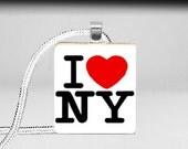 CityStudio....Scrabble Tile Pendant - I love New York