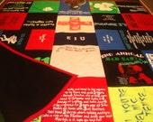PUB CRAWL Custom T-Shirt Blanket