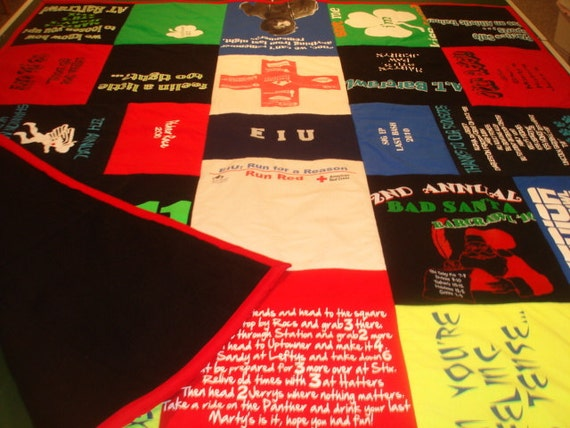 PUB CRAWL Custom T-Shirt Blanket