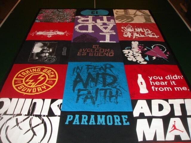 Concert Tee Blanket Custom T Shirt Quilt