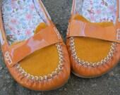 Pumpkin Orange Loafers... Deadstock. 7