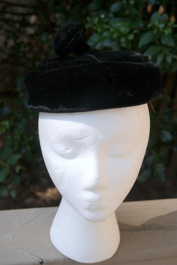 Velvet Pillbox Hat