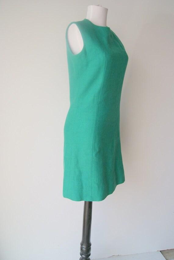 Vintage Kelly green Mini Shift Dress