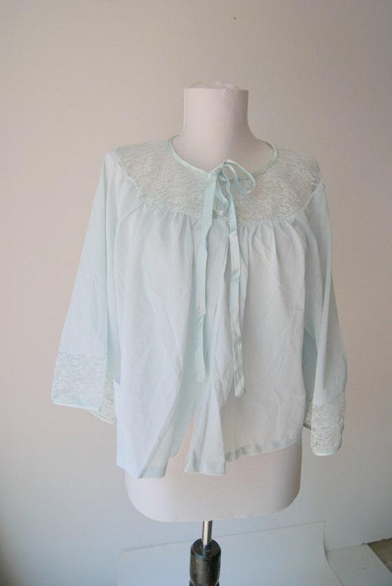 Vintage Pale Blue Bed Jacket