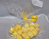 Popcorn Shaped Recycled Crayons- Total of 125 Pieces-Party Set for 5 People.  Boy or Girl Kids Unique Party Favors, Crayons.