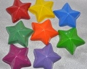 Recycled Crayons Star Shaped Total of 8.  Boy or Girl Kids Unique Party Favors, Crayons.