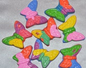 Butterfly Crayons, Butterfly Party Favors, Color Me Happy Butterfly Shaped Recycled Crayons - Total of 16.  Girl Kids Unique Party Favors