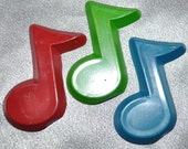 Recycled Crayons Music Note Shaped 3 In A Bag, Total of 12 Bags, Total of 36 Crayons.  Boy or Girl Kids Unique Party Favors, Crayons.