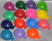 Balloon Shaped Recycled Crayons, Total of 15.  Boy or Girl Kids Unique Party Favors, Crayons.